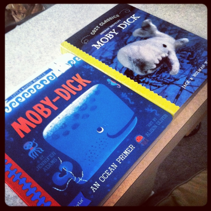 Two versions of Moby-Dick for kids.